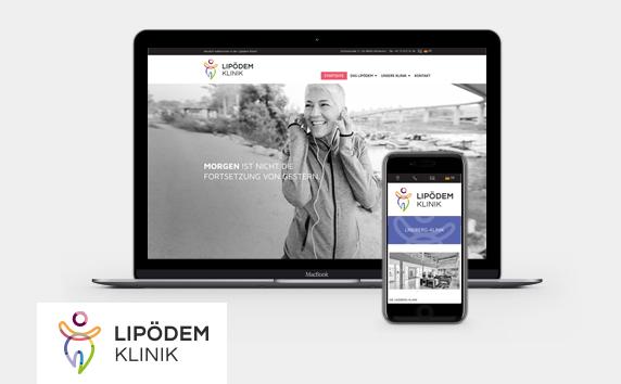 Lipödem Klinik<br>Marken- und Websiteentwicklung